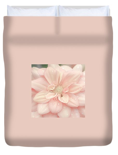 Blushing Dahlia Duvet Cover
