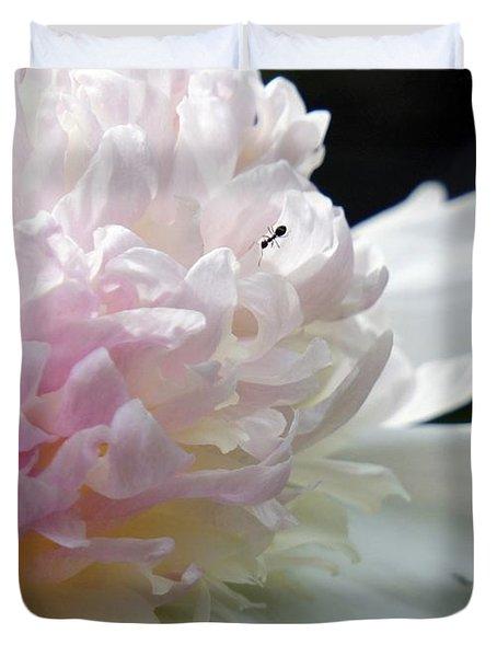 Blushing Peony  Duvet Cover