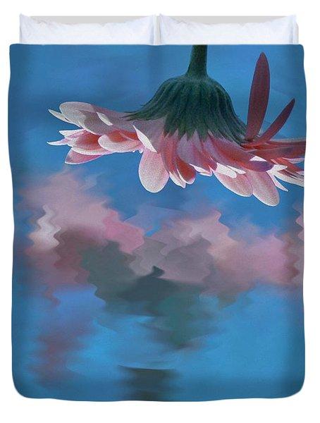 Blushing Pink Bloom Duvet Cover