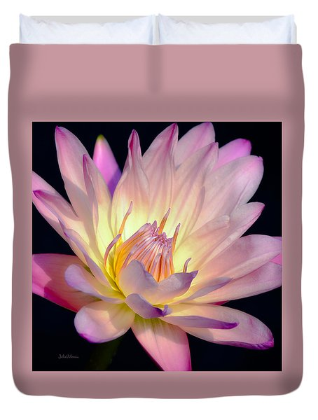Blushing Pink Water Lily Duvet Cover