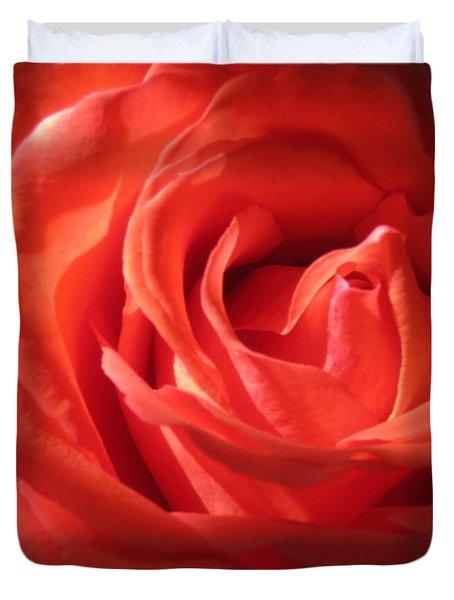 Blushing Orange Rose 1 Duvet Cover