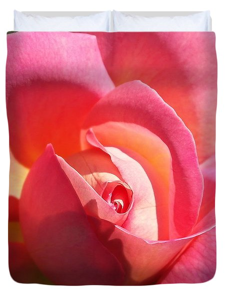 Blushing Rose Duvet Cover