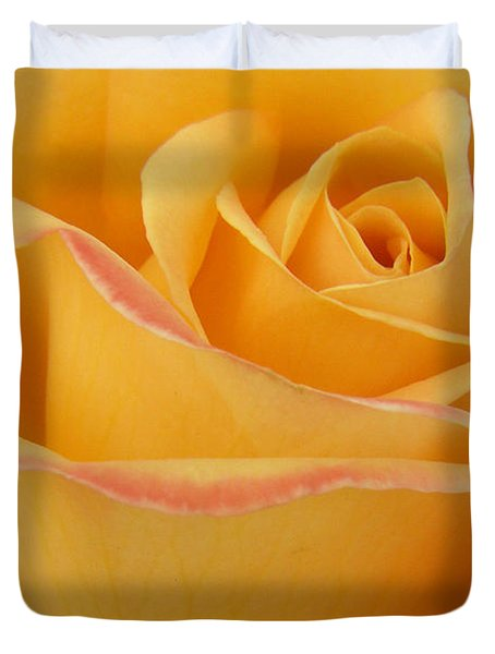 Blushing Yellow Rose Duvet Cover