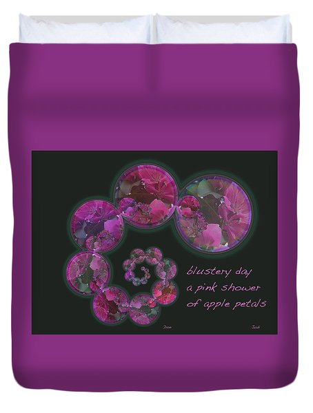 Blustery Day Haiga Duvet Cover by Judi and Don Hall
