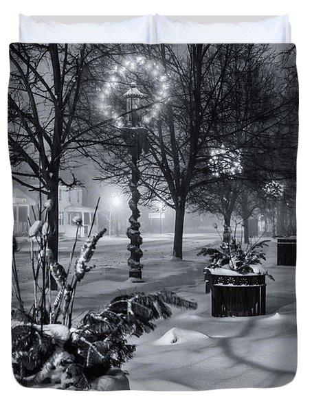 Blustery Winter Night Duvet Cover