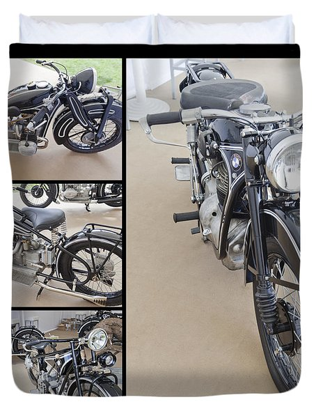 Bmw Art Deco Bikes Duvet Cover