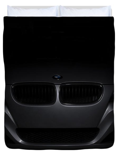 Bmw Car In Black Background Duvet Cover