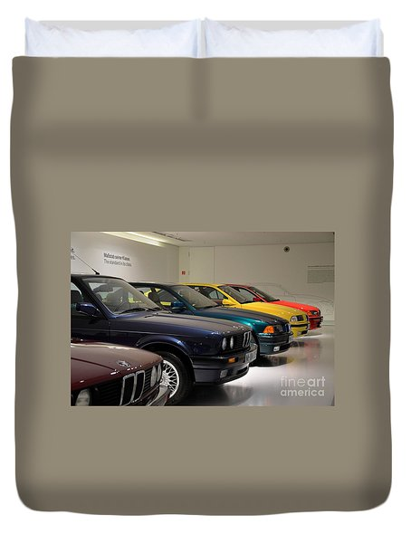 Bmw Cars Through The Years Munich Germany Duvet Cover