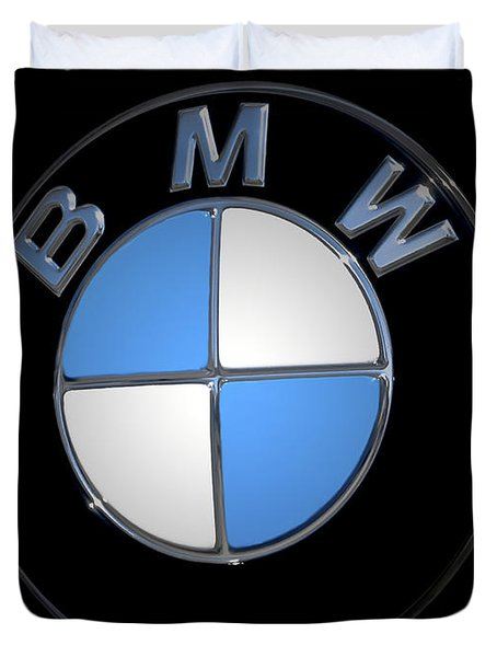 Bmw Emblem Duvet Cover by DigiArt Diaries by Vicky B Fuller
