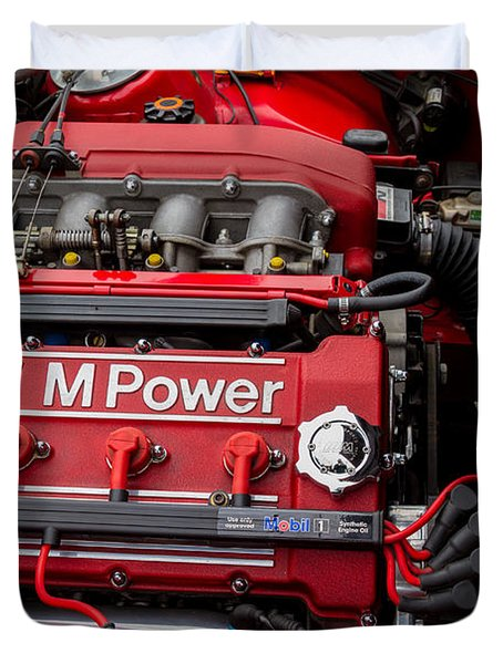 Bmw M Power Engine Duvet Cover by Roger Mullenhour