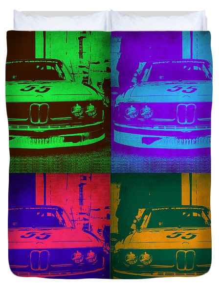 Bmw Racing Pop Art 1 Duvet Cover by Naxart Studio