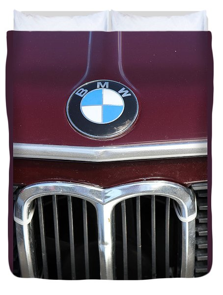 Duvet Cover featuring the photograph Bmw Vintage by The Art of Alice Terrill