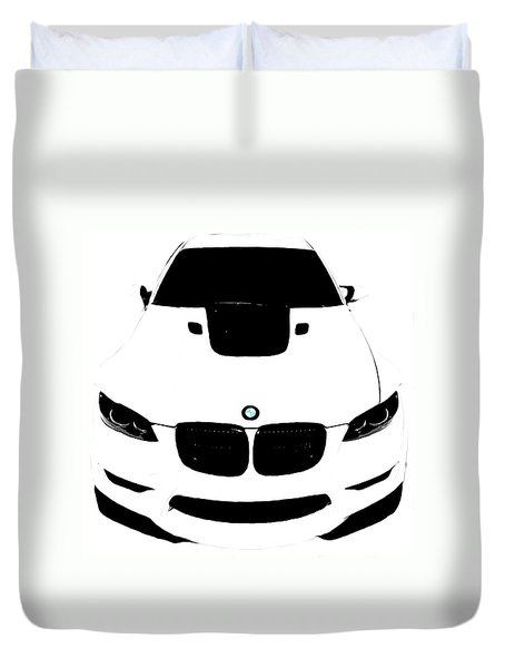 Bmw White Duvet Cover
