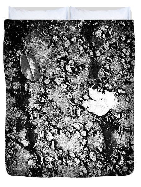 Leaves In The Wet Black 'n' White Duvet Cover