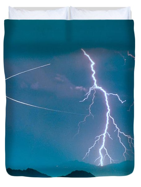 Bo Trek The Lightning Man Duvet Cover by James BO  Insogna