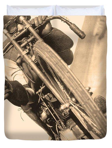 Board Track Racer Duvet Cover