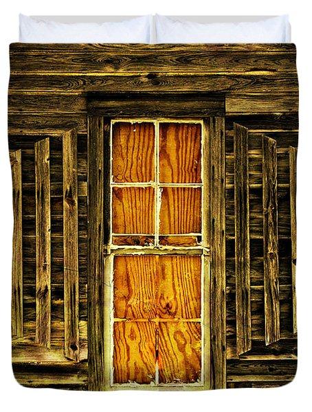 Boarded Window Duvet Cover by Marty Koch