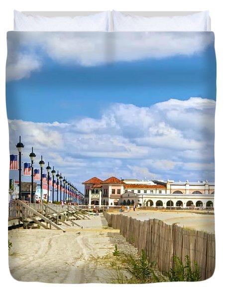 Boardwalk And Music Pier Duvet Cover