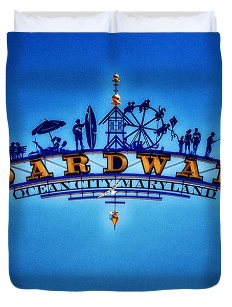 Boardwalk Arch In Ocean City Duvet Cover