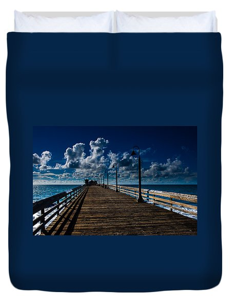 Boardwalk Blues  Duvet Cover by Cecil K Brissette