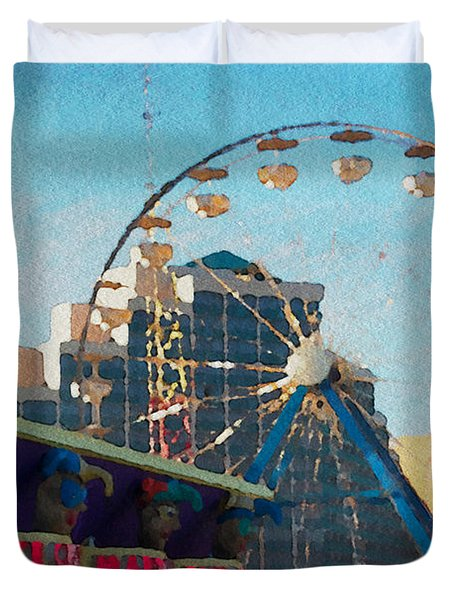 Boardwalk Ferris  Duvet Cover