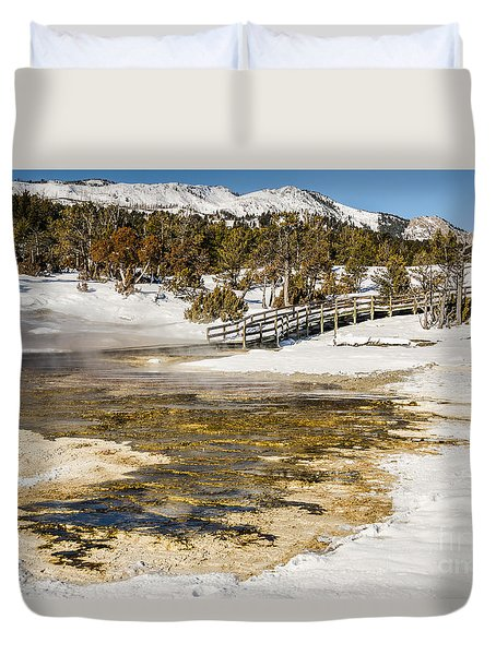 Boardwalk In The Park Duvet Cover
