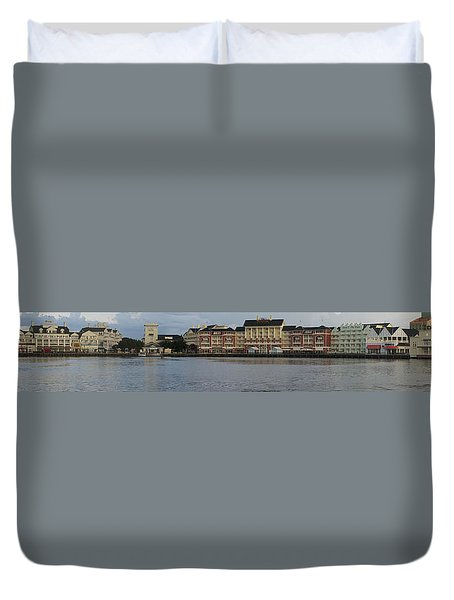 Boardwalk Panorama Walt Disney World Duvet Cover by Thomas Woolworth