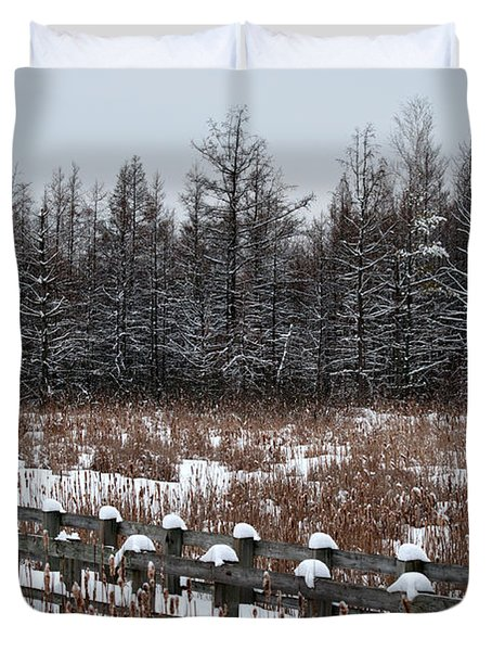 Duvet Cover featuring the photograph Boardwalk Series No1 by Bianca Nadeau