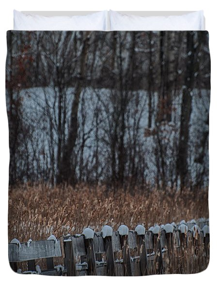 Duvet Cover featuring the photograph Boardwalk Series No2 by Bianca Nadeau