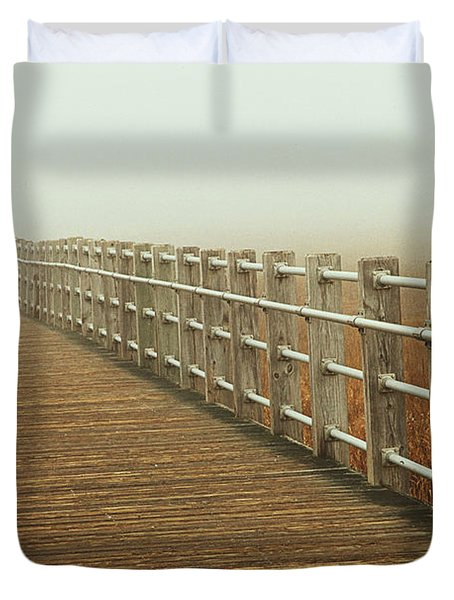 Boardwalk To The Unknown Duvet Cover by Karol Livote