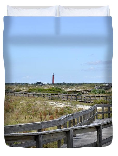 Boardwalk With A View Duvet Cover