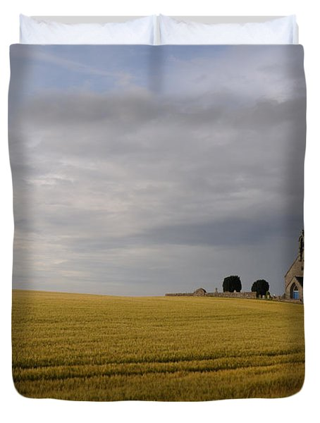Duvet Cover featuring the photograph Boarhills Church by Jeremy Voisey