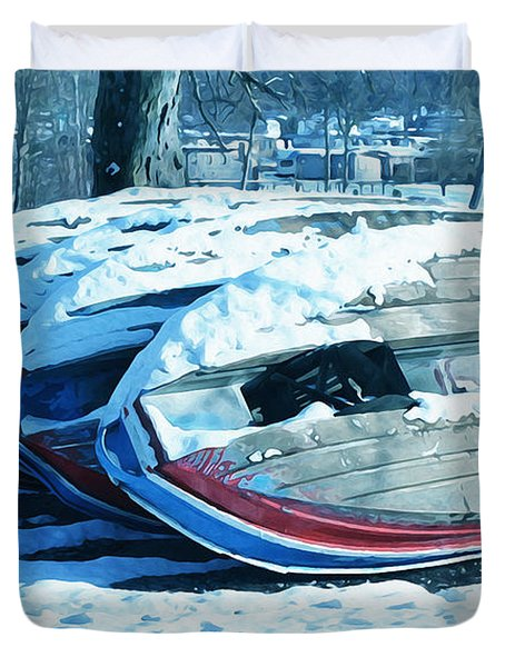 Boat Hire On Holiday Duvet Cover by Jutta Maria Pusl