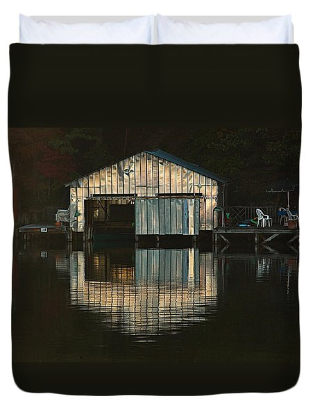 Boat House Effects Duvet Cover