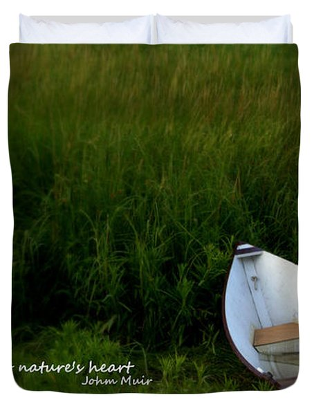 Duvet Cover featuring the photograph Boat In The Marsh by Caroline Stella