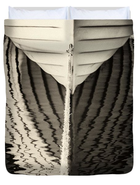Boat Mirrored Duvet Cover by Mike Santis