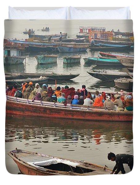 The Journey - Varanasi India Duvet Cover