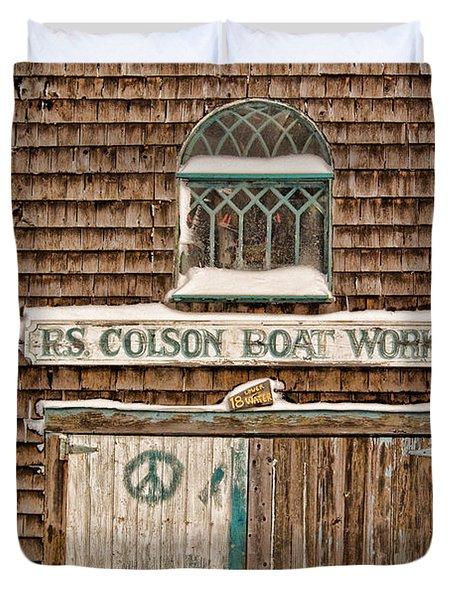 Boat Works Duvet Cover