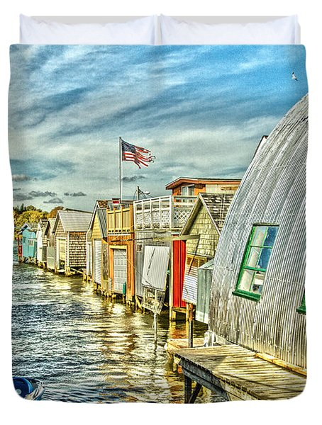 Boathouse Alley Duvet Cover