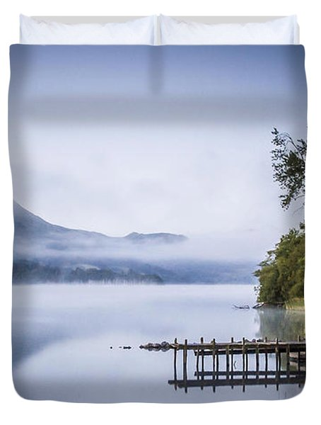 Boathouse At Pooley Bridge Duvet Cover