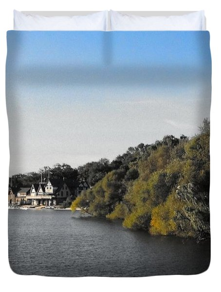 Duvet Cover featuring the photograph Boathouse II by Photographic Arts And Design Studio