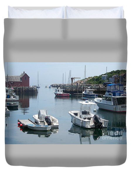 Duvet Cover featuring the photograph Boats On The Water by Eunice Miller