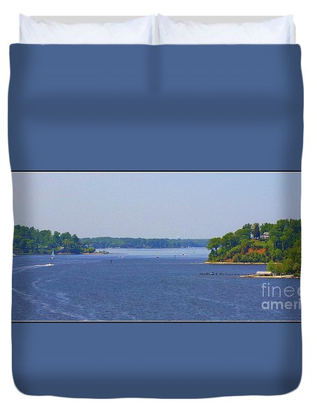 Boating On The Severn River Duvet Cover by Patti Whitten