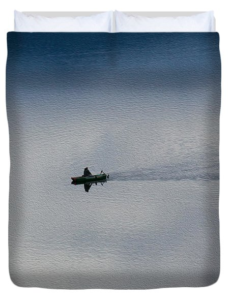 Boating Through The Clouds Duvet Cover by Omaste Witkowski