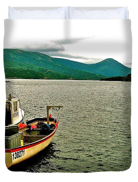 Boats At Norris Point On Bonne Bay In Gros Morne Np-nl Duvet Cover