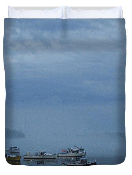 Duvet Cover featuring the photograph Boats At Rest by Alana Ranney
