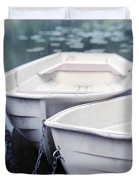 Boats Duvet Cover by Priska Wettstein