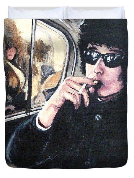 Bob Dylan 1966 Duvet Cover by Tom Roderick
