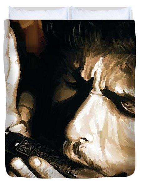 Bob Dylan Artwork 2 Duvet Cover by Sheraz A