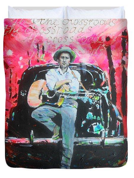 Bob Dylan - Crossroads Duvet Cover by Lucia Hoogervorst